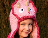 Featured in Inc Magazine Triceratops Hat - Crochet Pattern (Bomber Style) - Permission to sell finished products