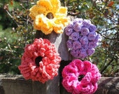 Big Button Interchangeable Flowers - Crochet Pattern - Permission to sell finished items