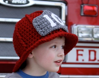 Firefighter Helmet - Crochet Pattern - Permission to sell finished items
