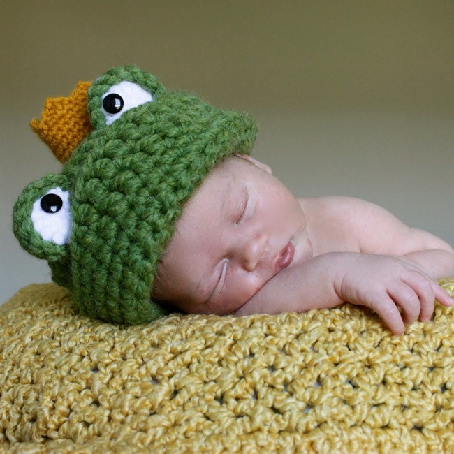 Frog Prince Hat Crochet Pattern Permission to sell