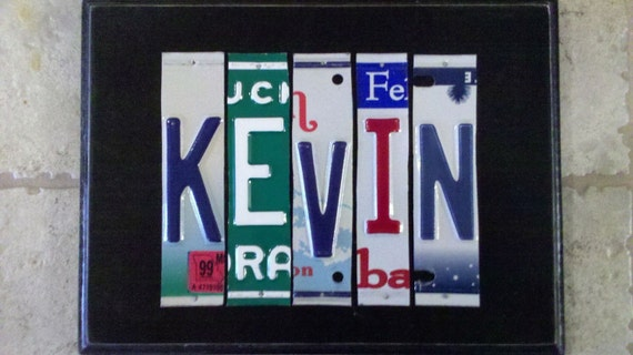 Items Similar To Custom License Plate Sign 5 To 7 Letters One Of A Kind Gift On Etsy