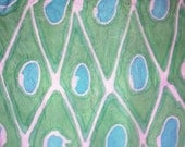 14x72 Green and turquoise silk scarf