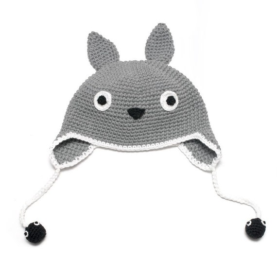 Crochet Totoro Hat with Soot sprites Available from by mokka7