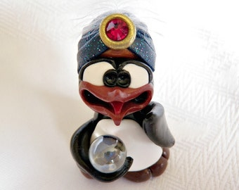 Gasping Pengahli - Fortune Teller - Polymer Clay - PenGuin Kisses - Shock - Disgust - Surprise