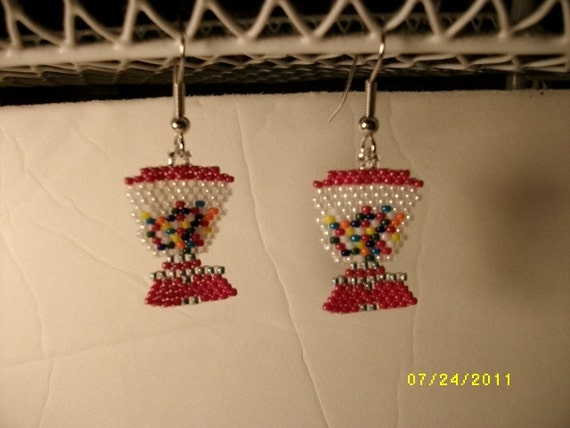 Bubble Gum Machine Earrings