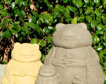 MEDITATING FROGS (Set of 3, Small, Medium & Large) - Give the Gift of Prosperity (v)