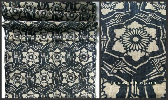 Reserved Antique Katazome Indigo Cotton 100 Years Old