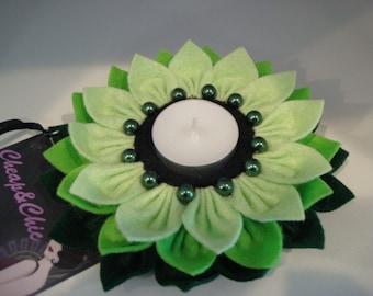 Lotus portacandela feltro. Lotus Tealight candle holders felt