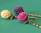 Chrysanthemum Hair Pins - Set of 3