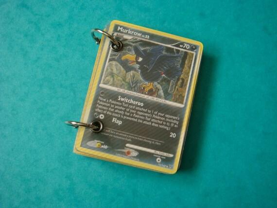 Upcycled Pokemon Card Notebook - Murkrow