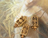 3 Vintage RARE Old Art Deco Filigree Clasps