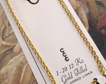 """Rare CCC Co Vintage 12KT GOLD Filled Chain Jewelers Stock - 15"""""""