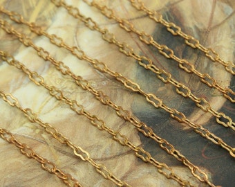 "8 GORGEOUS Vintage Solid Brass Ornate 15"" Chains"