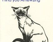Amewzing Siamese Cat Cards (5 Set)