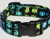 Space Invaders Dog Collar Comic Size Extra Small Computer Game