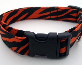 Tiger Stripes Dog Collar Size Extra Small, Small, Medium or Large