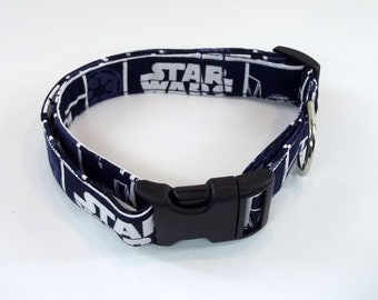 Star Wars Blue Dog Collar Size XS, S, M or L