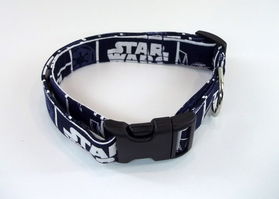 Star Wars Blue Dog Collar Size XS, S, M or L