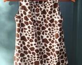 Giraffe Print Jumper Dress-Girls size 8