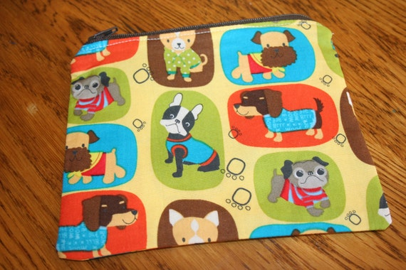 Doggy Zipper Pouch-Small