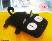 iPhone case - Black Cat iPhone / iPod/ Cell phone Felt Case
