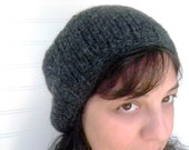 Slouch Hat Charcoal Grey Wool/ Boho fashion/ Hipster Inspired