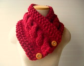 Knit Scarf Cable Cowl in Your Custom Color Choice
