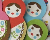 Matryoshka Iron On Applique Patch