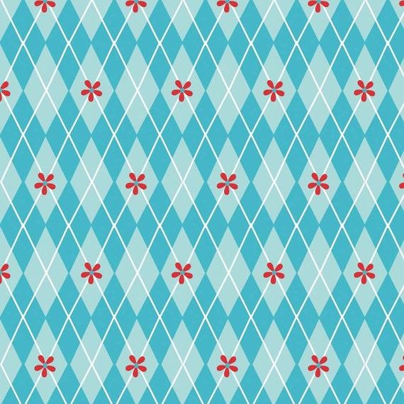 SALE Sugar & Spice (Riley Blake), Sugar Argyle in Blue, 1 yard