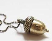 Squirrel Acorn Necklace