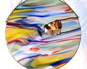 Harlequin Multi-colored Stained Glass