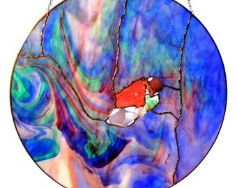 North Wind Blows Stained Glass