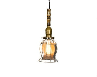 Vintage style open caged trouble light