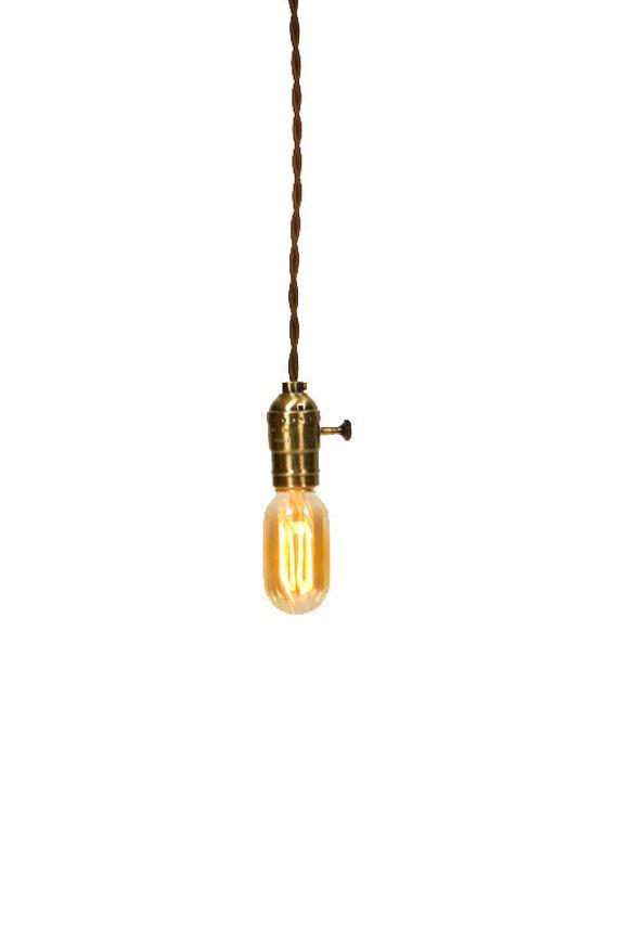 Vintage Industrial - Economy Minimalist Bare Bulb Pendant Light