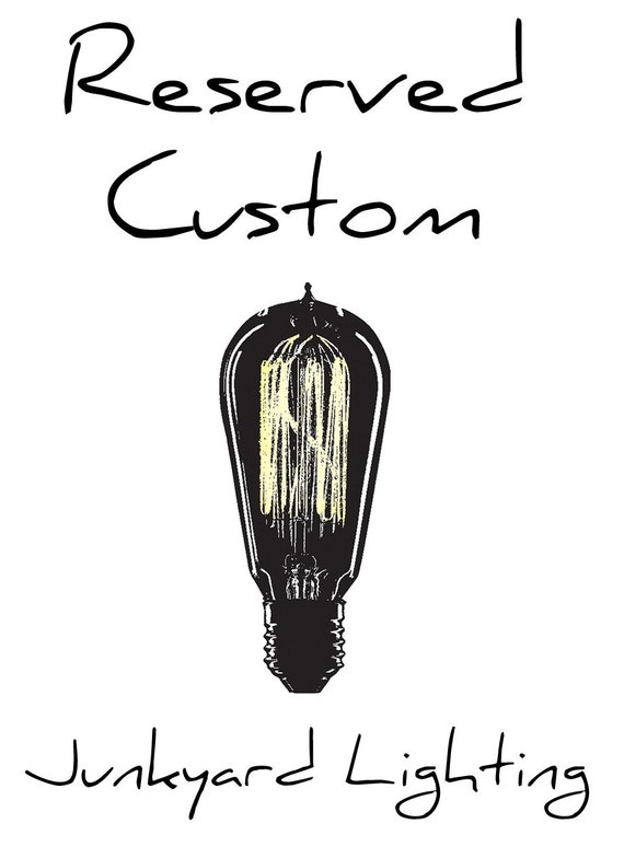 RESERVED - Custom listing - 2 light wall sconce