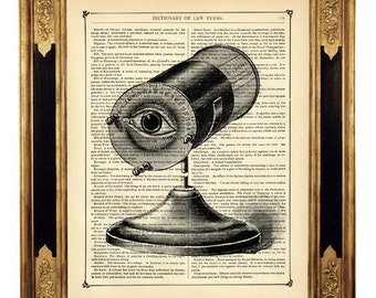 Optical Instrument Eye - Vintage Victorian Book Page Art Print Steampunk