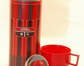 Retro Red and Brown Thermos