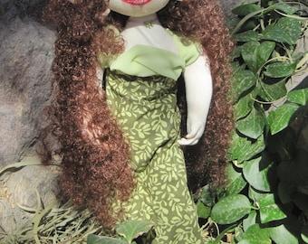 Yaara OOAK elven fabric art doll
