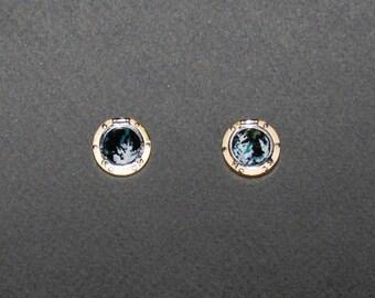 Ship's Porthole Earrings in 18 kt gold