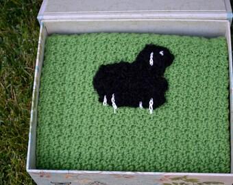 Black Sheep Baby Blanket