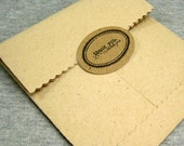 THANK YOU STICKERS ...Oval Shape- Brown Kraft