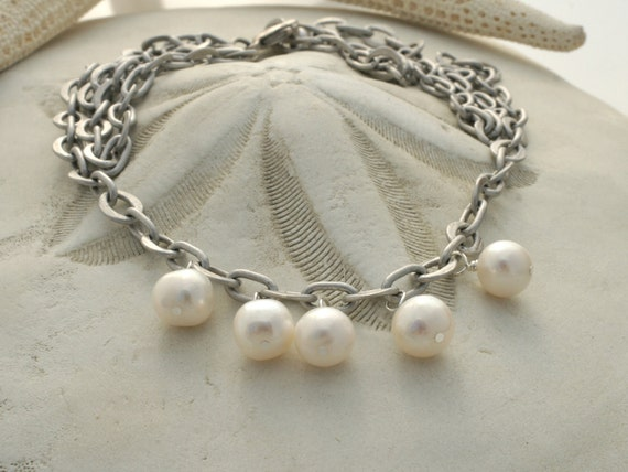 Mothers Day Jewelry, WHITE PEARL NECKLACE by Cheydrea