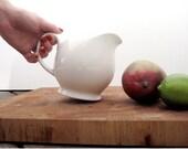 small white porcelain pitcher
