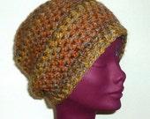Crochet Beanie Hat Unisex Sunset Hues