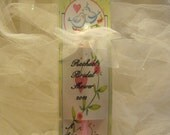Personalized Wedding Shower Favors -Set of 12  Ink Pen Cards