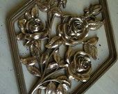 Vintage Hollywood Regency Syroco Golden Roses Wall Hanging - Pair