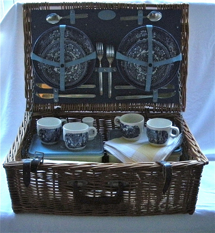 Wedding Gift Picnic Baskets : Vintage Brooks Brothers Wicker Picnic Basket Special Wedding