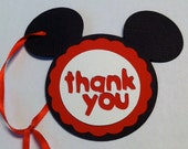 Mickey Mouse Thank You tags- Set of 12
