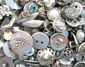 Fancy Silver Antique Vintage Style Embellishment Buttons Lot of 100