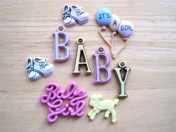 Baby Girl Craft Novelty Embellishment Buttons